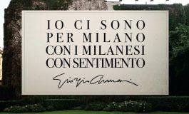"""Giorgio Armani parla ai milanesi: """"Io ci sono"""""""
